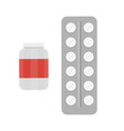 medical pills - medicine icon and drug vector image vector image