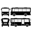 mini bus silhouette vector image vector image