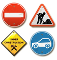 Old Road Signs vector image vector image