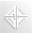 paper triangle infographic vector image vector image