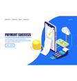 payment success website landing page design vector image