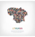 people map country lithuania vector image