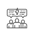 people with speech bubble business meeting vector image