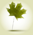 polygonal green maple leaf vector image vector image