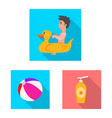 pool and swimming symbol vector image