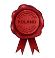 Product Of Poland Wax Seal vector image