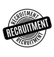 recruitment rubber stamp vector image vector image