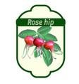 Rose hip label