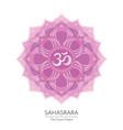 sahasrara chakra icon vector image vector image