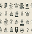 seamless pattern on coffee theme with labels vector image vector image