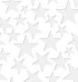 Seamless stars paper pattern vector image