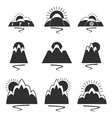 set of logos with mountains vector image vector image
