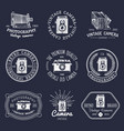 set old cameras logos vintage photo vector image