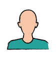 silhouette man avatar people icon vector image vector image
