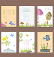 spring natural floral cards with blossom gardening vector image vector image