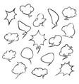 stickers of speech bubbles set empty comic vector image vector image
