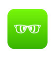 sunglasses icon digital green vector image vector image