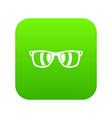 sunglasses icon digital green vector image vector image