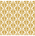 thistle pattern gold vector image vector image