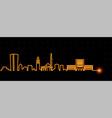 tirana light streak skyline vector image vector image