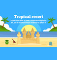 tropical resort concept banner flat style vector image