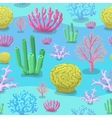 Underwater Seamless pattern of sea Corals vector image