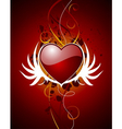 valentine hearth with wing vector image vector image