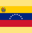 venezuela flag state and war variant vector image vector image