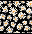 vintage daisy flowers seamless pattern vector image