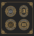 vintage luxury banner template design for label vector image vector image