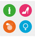 wedding dress icon women shoe sign perfume vector image