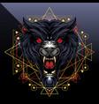 wild wolf head esport mascot logo design vector image vector image