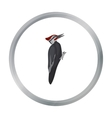Woodpecker icon in cartoon style isolated on white vector image vector image
