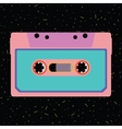 Retro cassette in flat style vector image