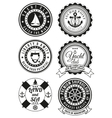 Set of round badges for sea and yacht club vector image