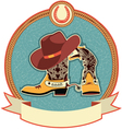 cowboy boots and hat label