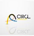 abstract swirl lines symbol circle logo icon vector image vector image