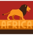 African ethnic background with of lion vector image vector image