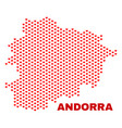 andorra map - mosaic of lovely hearts vector image vector image