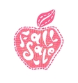 Apple fall sale vector image
