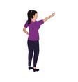 avatar woman icon flat design vector image vector image