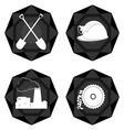 Badges coal industry 2 vector image vector image
