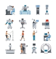 Bionic Icons With Surgical And Diagnostic vector image