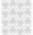 Black and white abstract flowers print patern vector image vector image