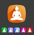 buddha statue buddhism icon flat web sign symbol vector image vector image