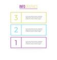 Business infographics List with 3 parts vector image vector image