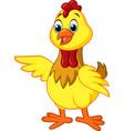 cartoon chick posing vector image