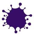 cartoon violet blot spilled ink stain vector image