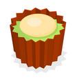 choco pancake icon isometric style vector image