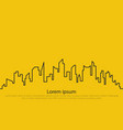 city on a yellow background vector image vector image
